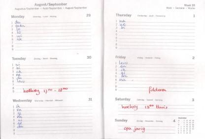 agenda wk 35